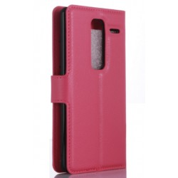 Protection Etui Portefeuille Cuir Rose LG Class 4G