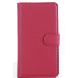 Protection Etui Portefeuille Cuir Rose LG Class