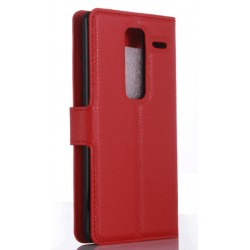Protection Etui Portefeuille Cuir Rouge LG Class