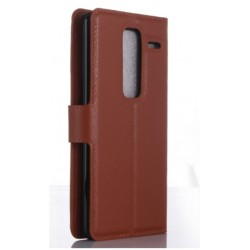 Protection Etui Portefeuille Cuir Marron LG Class