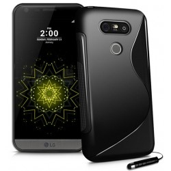 Black Silicone Protective Case LG G5