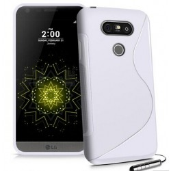 White Silicone Protective Case LG G5