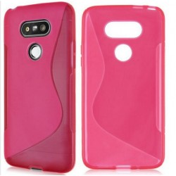 Pink Silicone Protective Case LG G5