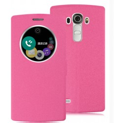 Etui Protection S-View Cover Rose Pour LG G5