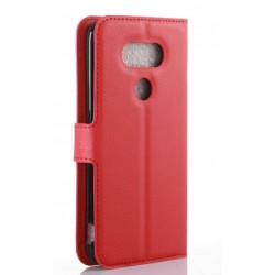 Protection Etui Portefeuille Cuir Rouge LG G5