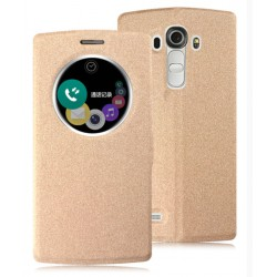 Etui Protection S-View Cover Or Pour LG V20