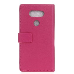 Protection Etui Portefeuille Cuir Rose LG V20