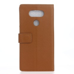 Protection Etui Portefeuille Cuir Marron LG V20