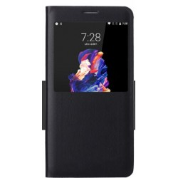Black S-view Flip Case For OnePlus 5
