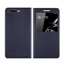 Etui Protection S-View Cover Bleu Pour OnePlus 5