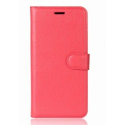 Protection Etui Portefeuille Cuir Rouge OnePlus 5