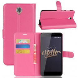 Protection Etui Portefeuille Cuir Rose Cubot Max