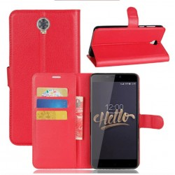 Protection Etui Portefeuille Cuir Rouge Cubot Max