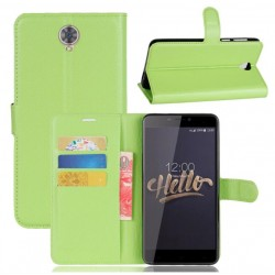 Protection Etui Portefeuille Cuir Vert Cubot Max