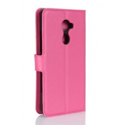 Protection Etui Portefeuille Cuir Rose Vodafone Smart N8