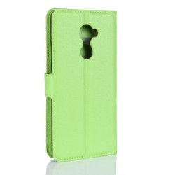 Protection Etui Portefeuille Cuir Vert Vodafone Smart N8