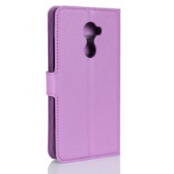 Protection Etui Portefeuille Cuir Violet Vodafone Smart N8