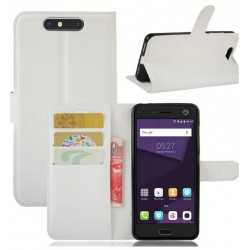 Protection Etui Portefeuille Cuir Blanc ZTE Blade V8