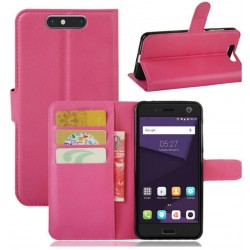 Protection Etui Portefeuille Cuir Rose ZTE Blade V8