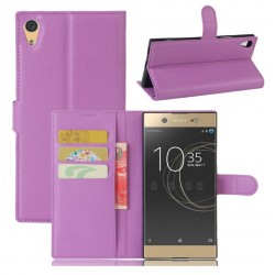 Protection Etui Portefeuille Cuir Violet Sony Xperia XA1