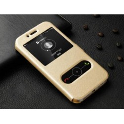 Gold S-view Flip Case For Huawei GR5