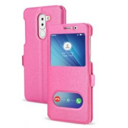 Etui Protection S-View Cover Rose Pour Huawei GR5