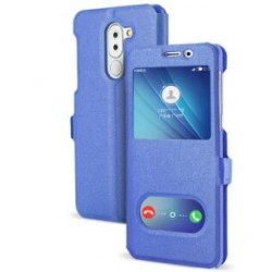 Etui Protection S-View Cover Bleu Pour Huawei GR5