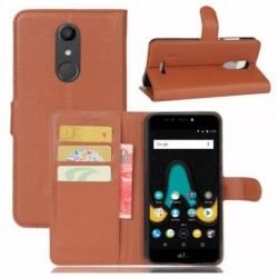 Protection Etui Portefeuille Cuir Marron Wiko UPulse