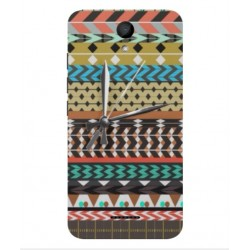 Coque Broderie Mexicaine Avec Horloge Pour Wiko Harry