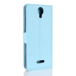 Protection Etui Portefeuille Cuir Bleu Wiko Harry