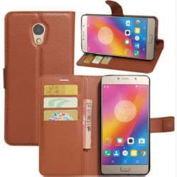 Lenovo P2 Brown Wallet Case