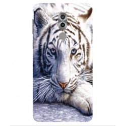 Coque Protection Tigre Blanc Pour Huawei Honor 6X Pro