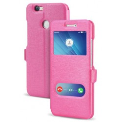 Pink S-view Flip Case For Huawei Nova 2