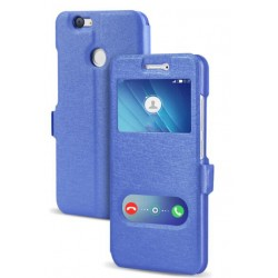 Blue S-view Flip Case For Huawei Nova 2