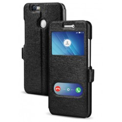 Black S-view Flip Case For Huawei Nova 2