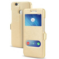 Gold S-view Flip Case For Huawei Nova 2