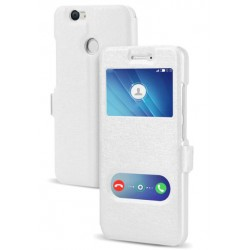Etui Protection S-View Cover Blanc Pour Huawei Nova 2 Plus