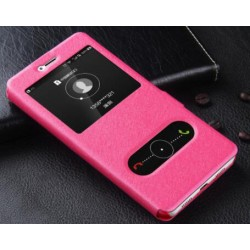 Pink S-view Flip Case For Huawei Honor 8 Pro