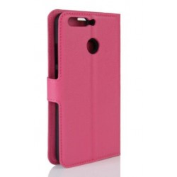 Protection Etui Portefeuille Cuir Rose Huawei Honor 8 Pro