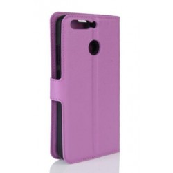 Protection Etui Portefeuille Cuir Violet Huawei Honor 8 Pro