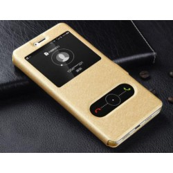 Gold S-view Flip Case For Huawei Honor V9