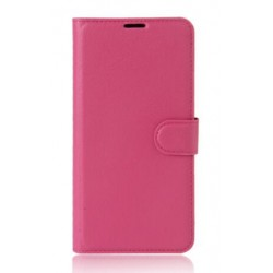 Protection Etui Portefeuille Cuir Rose Huawei Honor V9