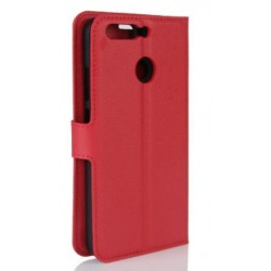 Protection Etui Portefeuille Cuir Rouge Huawei Honor V9
