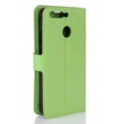 Protection Etui Portefeuille Cuir Vert Huawei Honor V9