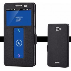 Black S-view Flip Case For Lenovo S856