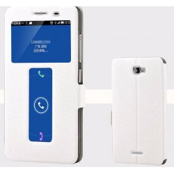 White S-view Flip Case For Lenovo S856