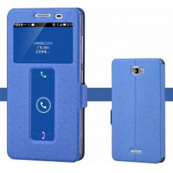 Blue S-view Flip Case For Lenovo S856