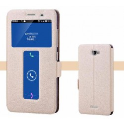 Gold S-view Flip Case For Lenovo S856