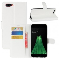 Protection Etui Portefeuille Cuir Blanc Oppo R11