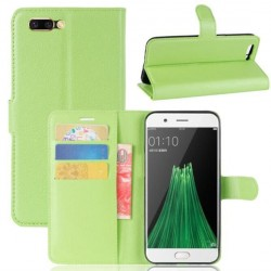 Protection Etui Portefeuille Cuir Vert Oppo R11
